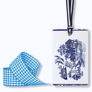 Bespoke blue and white Willow wrapping kit (light blue ribbon)
