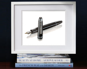 Print of Mont Blanc pen