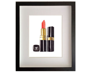Print of red Chanel lipstick