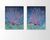Original oil on canvas seaweed pair