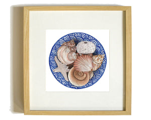 Print of a seashells in a bowl