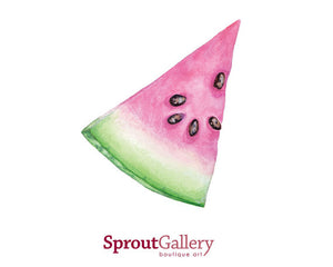 Print of a slice of summer watermelon