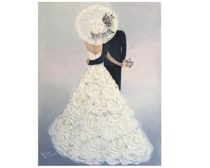 Original oil on canvas Bride & Groom