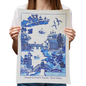 Tea Towel of new Willow design by Michelle Grayson