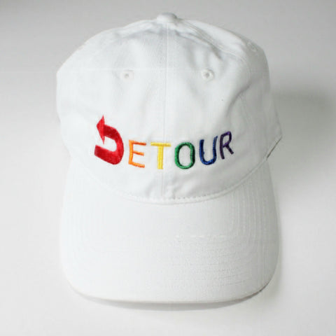 Pride Signature Dad Hat-White