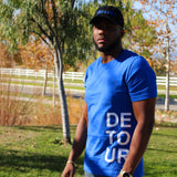 Blue Signature Stacked Tee
