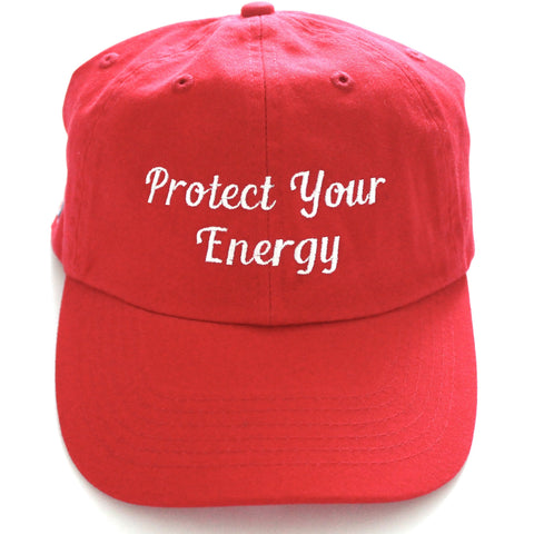 Protect Your Energy Dad Hat-Red