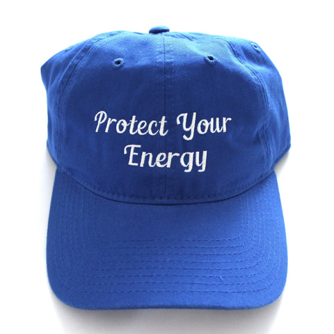 Protect Your Energy Dad Hat-Blue