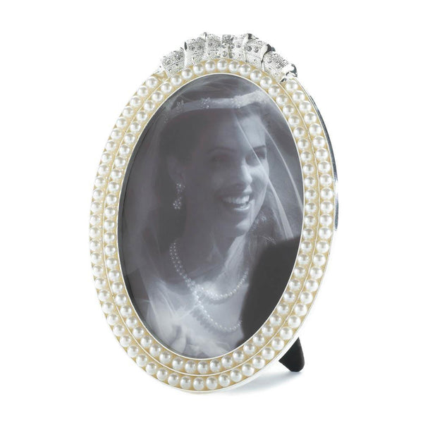 STRANDS OF PEARL PHOTO FRAME 5X7-Escritt Home Decor