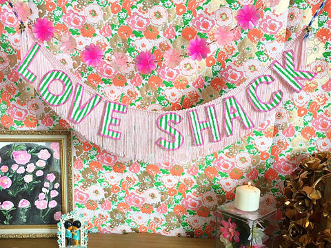 love shack fringe banner by fun cult