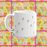 vintage inspired floral coffee mug cup