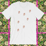 Random Rose graphic chic t-shirt by FUN CULT