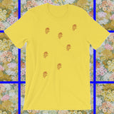 Sunshine Yellow brown rose graphic t-shirt by FUN CULT