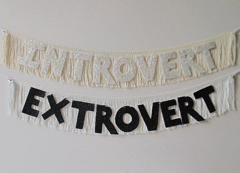 Introvert Glittering Fringe Banner by FUN CULT