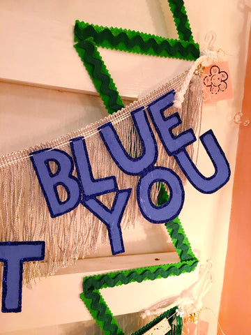 I'll Have A Blue Christmas Without You Fringe Banner