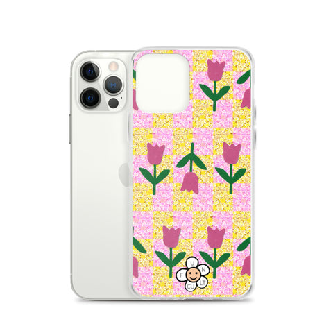 Tulip Checkerboard iPhone Case