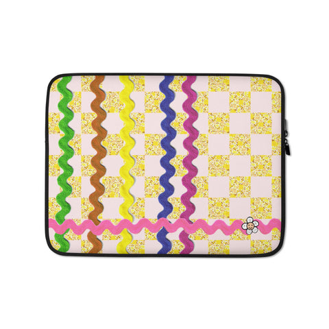 Ric-Rac Checkerboard Laptop Sleeve