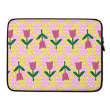 Tulips Laptop Sleeve - 13 inch or 15 inch laptop sleeve