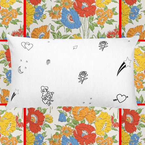 Cosmic Love Throw Pillow