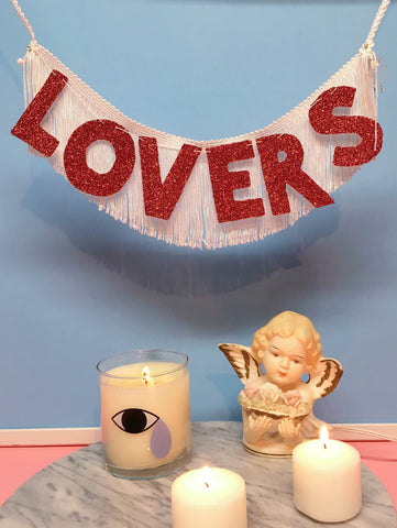 lovers glittering fringe banner by FUN CULT