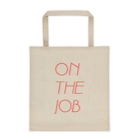 on the job 70s inspired large tote bag by FUN CULT