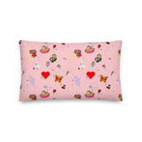 Favorites Print (pink) 20x12 Throw Pillow