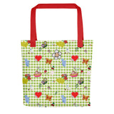 Favorites Print (with green gingham) Tote bag