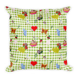 Favorites (with green gingham) Premium Square Throw Pillow