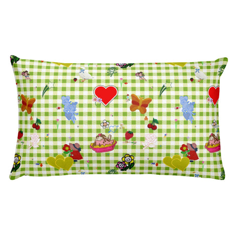 Favorites (with green gingham) Premium Throw Pillow