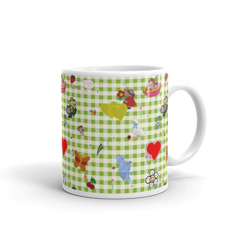 Favorites (with green gingham) 11oz or 15oz Mug