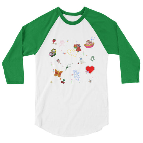 Favorites Print 3/4 sleeve raglan shirt