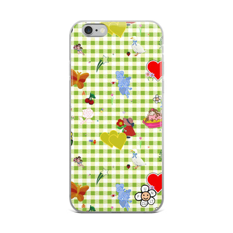 Favorites (with green gingham) iPhone Case