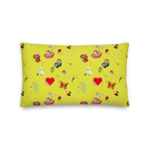Favorites Print (yellow) 20x12 Throw Pillow