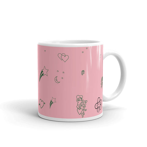 Cosmic Love Coffee Mug (pink and green)