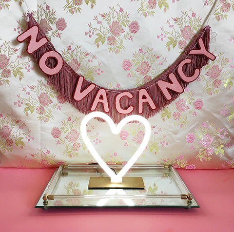 No Vacancy Fringe Banner by FUN CULT - neon sign inspired banner