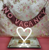 neon sign inspired No Vacancy Fringe Banner by FUN CULT