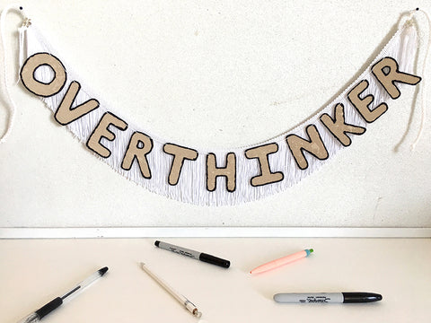 Overthinker Fringe Banner by FUN CULT