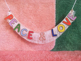 Peace & Love Fringe Banner