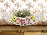 Double Meaning Fringe Banner by FUN CULT - Sorry / Not Sorry double sided banner