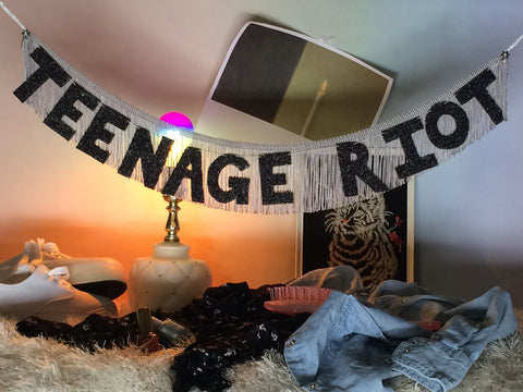 TEEN AGE RIOT Fringe Banner by FUN CULT