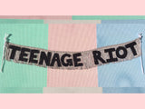 TEENAGE RIOT party banner by FUN CULT