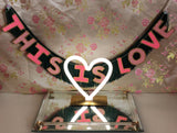 This Is Love Glittering Fringe Banner by FUN CULT