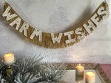 Warm Wishes Glittered Letter Banner by FUN CULT