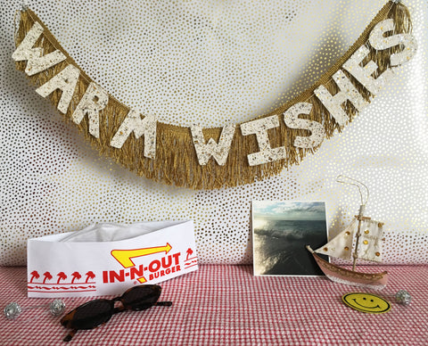 Warm Wishes Glittering Fringe Banner by FUN CULT