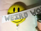 Weird World Glittering Fringe Banner  by FUN CULT