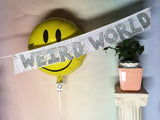 Hologram glitter Weird World Glittering Fringe Banner by FUN CULT
