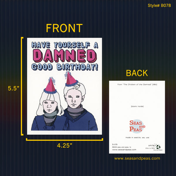 """The Children of the Damned"" Birthday Card - WHOLESALE"
