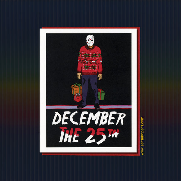 """Friday the 13th"" Christmas Card - WHOLESALE"