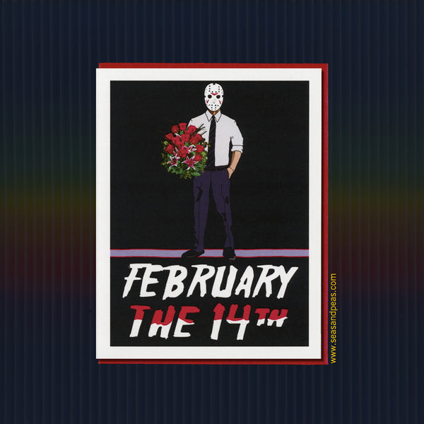 """Friday the 13th"" Valentine Card - WHOLESALE"