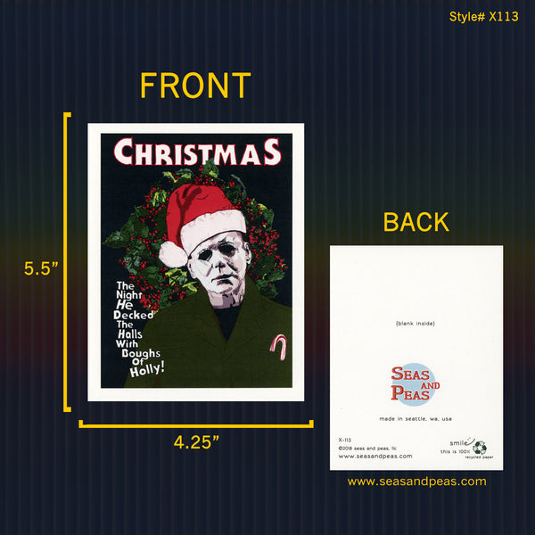 """Halloween"" Christmas Card - WHOLESALE"